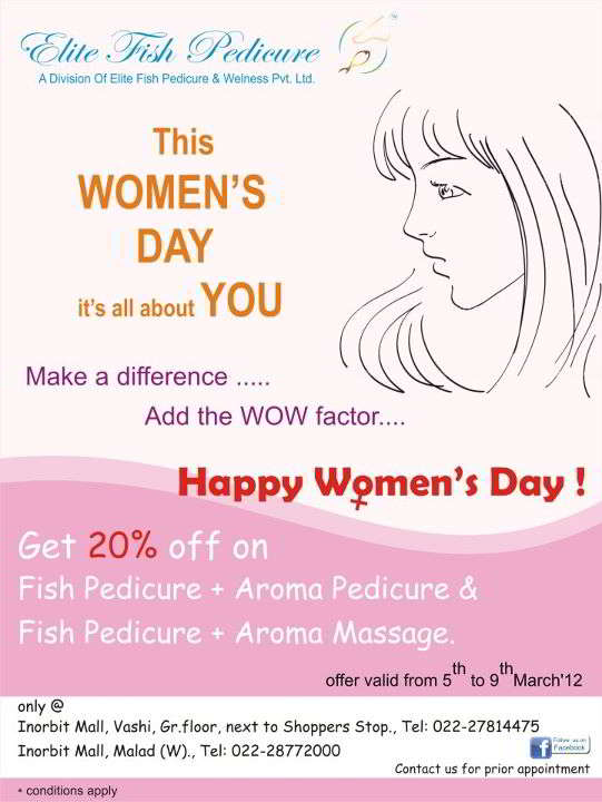 women s day deals elite fish pedicure women s day deal from 5th to 9th march 2210