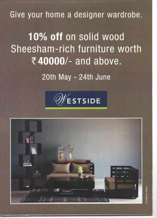 Give Your Home A Designer Wardrobe   10% Off On Solid Wood Sheesham Rich