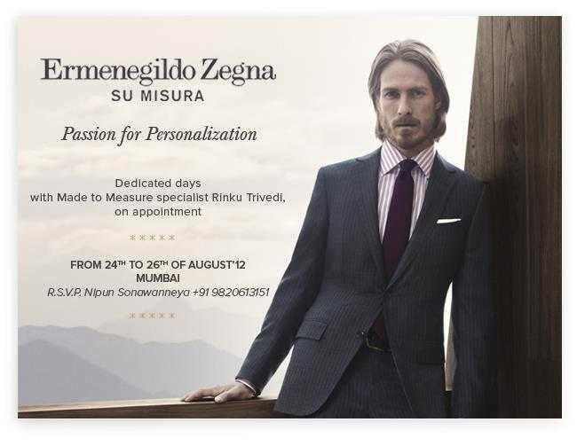 7172d7ddea Ermenegildo Zegna brings made to measure specialist Rinku Trivedi ...