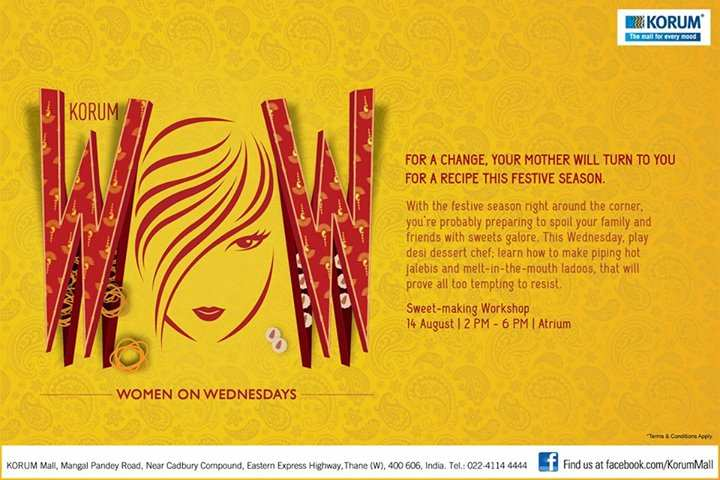 KORUM's Women on Wednesdays (WOW) Sweet Making Workshop on