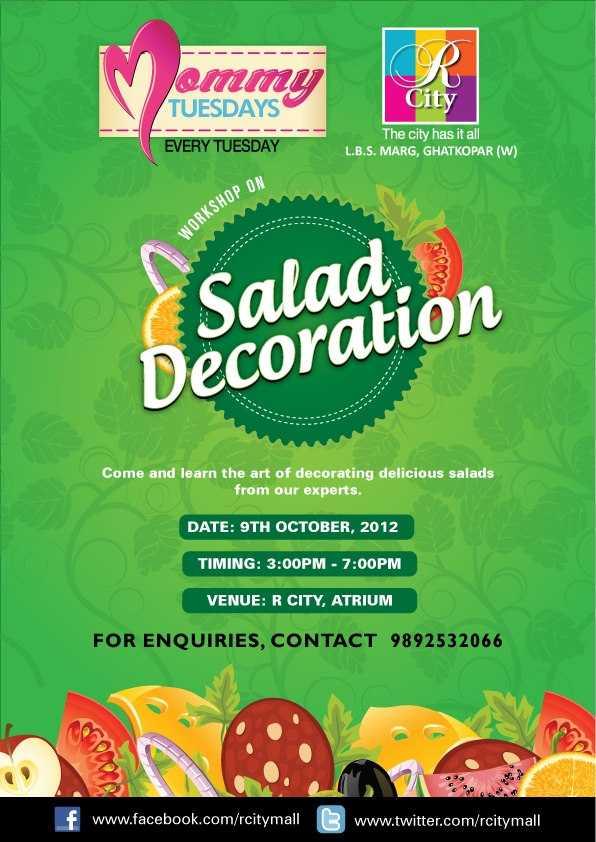 workshop on salad decoration on 9 october 2012 at r city
