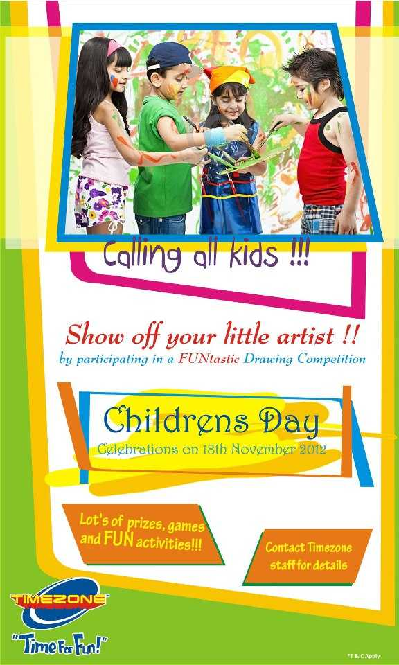 Childrens Day celebration - FUNtastic Drawing competition ...