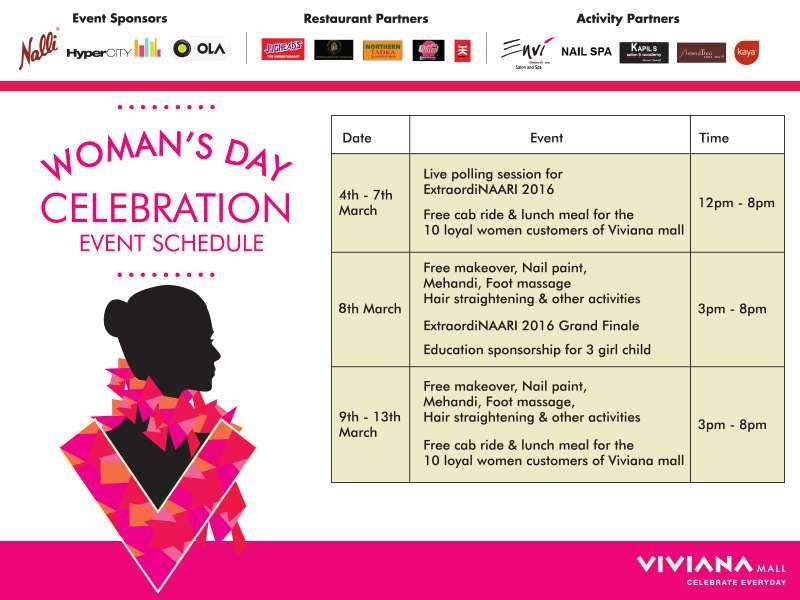 Restaurants In Viviana Mall >> Woman's Day Celebration at Viviana Mall Thane   Events in Mumbai   mallsmarket.com
