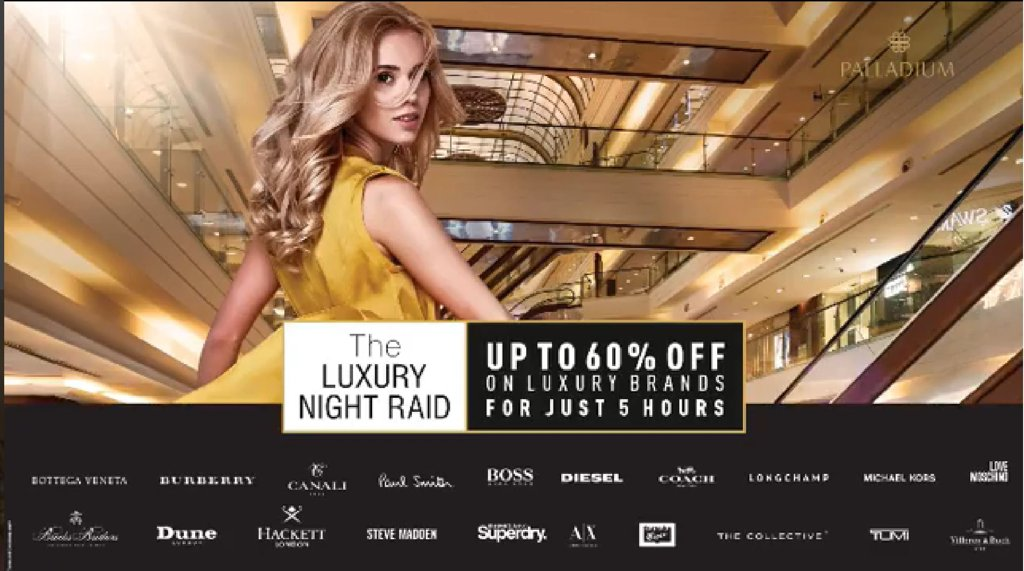ac2e031fdc Shop at the Luxury Night Raid at Palladium - Sale Up to 60% off on ...