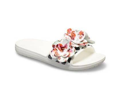 Crocs Sloane Timeless Roses White Womens Slide