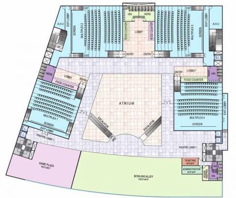 Little world mall khargar shopping malls in mumbai for Multiplex floor plans