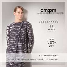 AM:PM celebrates 11 years - upto 70% off at the Palladium Mall store from 5 to 7 November 2014