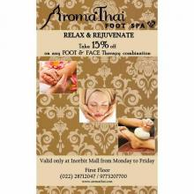 Spa Deals in Mumbai - AromaThai Foot Spa Realx & Rejuvenate offer exclusively at Inorbit Mall, Malad. Monday to Friday