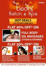 Bodhi Salon & Spa Hot Deals from 1 to 30 June 2013