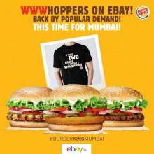 Mumbai fans pre-book your Burger King Whooper on eBay & get a whooper T-shirt too