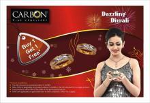 Diwali Deals in Mumbai - Dazzling Diwali Offer Buy 1 Get 1 Free at CARBON - Fine Jewellery