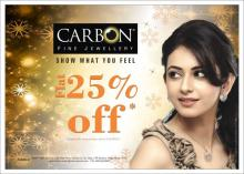 Flat 25% off on Carbon Fine Jewellery on purchase above Rs.10,000