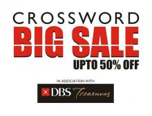 Crossword Big Sale - Upto 50% off from 19 January to 10 February 2013