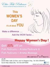 Deals in Mumbai - Elite Fish Pedicure Women's Day Deal from 5th to 9th March 2012, at Inorbit Mall Vashi and Inorbit Mall, Malad.