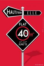 Flat 40% off at ELLE from 21 to 23 June 2013 at ELLE Boutiques