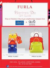 Shop at Furla Palladium High Street Phoenix on Valentines Day & get complimentary hampers from Lindt & Qua