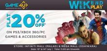 Events in Mumbai, Game4U Weekend Play, Flat 20% off, PS3, XBOX 360, PC Games, Accessories, 13 & 14 July 2013, Infiniti Mall Malad, Mega Mall Oshiwara, 11.am onwards