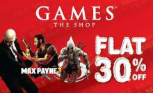 Games The Shop, Flat 30% Off, Hitman Deluxe, Hitman, Assassins Creed III, Max Payne 3