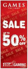 Upto 50% off Sale at Games The Shop, Korum Mall, Thane