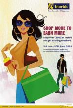 It's time to go on a shopping spree!! Inorbit Mall gives you exciting gift vouchers when you shop over Rs. 3000