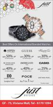 The Just Watches, End Of Season Sale, starting from 19th July onwards, Up to 50% off
