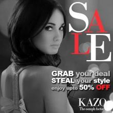 Kazo Sale - Grab your deal Steal your style. Enjoy upto 50% off