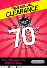 La Senza Semi Annual Clearance Sale - Upto 70% of on selected styles, Last Weekend.