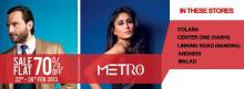 Metro Shoes Sale, Flat 70% Off* , 22 to 26 Feb 2013