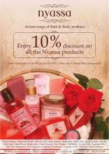 Deals in Mumbai - Enjoy 10% Discount on all the Nyassa products from 1 to 5 October 2012 at Oberoi Mall, Goregaon