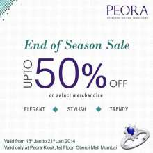 Peora - Sterling Silver Jewellery End Of Season Sale - Upto 50% off from 15 to 21 January 2014 at Oberoi Mall, Goregaon. Buy glittering merchandise from Peora at eye-catching rates. Don't miss this shining opportunity.