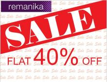 Remanika offers Flat 40% only for you!! Rush to your nearest remanika exclusive outlet.. Grab your favorite pick now!!!