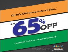The Nature's Co Independence Day Offer - 65% off from 11 to 15 August 2012