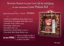 Recreate Passion in your love life by Indulging in The Nature's Co Love Potion Kit
