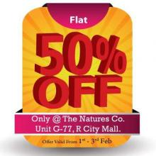 Get Flat 50% off at <strong>The Nature's Co</strong> R City Mall Ghatkopar Mumbai from 1 to 3 February 2013
