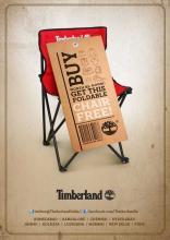 Buy worth Rs.9000 at Timberland and get a foldable chair free. Deal at Ahmedabad, Bangalore, Chennai, Hyderabad, Jammu, Kolkata, Ludhiana, Mumbai, New Delhi, Pune.