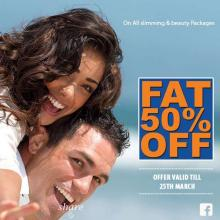 Fat 50% off Offer on all slimming & beauty packages at VLCC until 25 March 2013