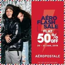 Aero Flash Sale - Flat 50% off at Aeropostale  20th & 21st January 2018
