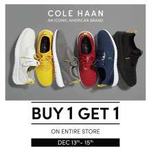 COLE HAAN Buy 1 Get 1 Sale at Palladium Mumbai  13th - 15th December 2019