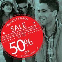 FBB End of Season Sale - Up To 50% off on Men's, Ladies and Kidswear