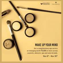 Make Up Your Mind - Complimentary Spa Service offer at Palladium Mumbai & High Street Phoenix