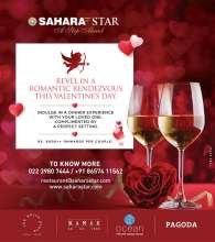 Revel in a romantic rendezvous this Valentine's Day at Hotel Sahara Star