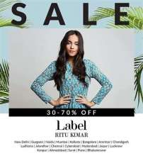 Label Ritu Kumar's End of Season Sale  17th to 30th June 2017