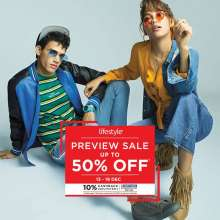 Lifestyle Preview Sale - Up To 50% off  13th - 17th December 2019