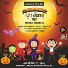 Halloween Party for kids at Crossword Bookstore, Kemps Corner & Turner Road on 31 October 2015