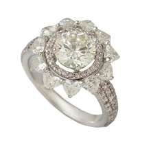 Solitaire Ring crafted with 2.06 ct round brilliant diamond in the centre