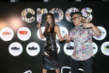 Shibani Dandekar spotted with Crocs at the Grazia Millennial Award 2019 where Crocs was the partner for the event