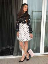 Actress Divya Khosla Kumar looked all summery in Parul J Maurya Polka Dot Dress