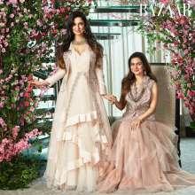 Actress Divya Khosla Kumar muse for Designer Rashi Kapoor For Harper's Bazaar Bride - August issue