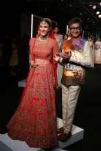 Actress Elli Avram walked for Designer Manoj Agarrwal AT LFW A W 2017
