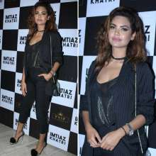 Actress Esha Gupta looked chic in the Cover Story Blazer